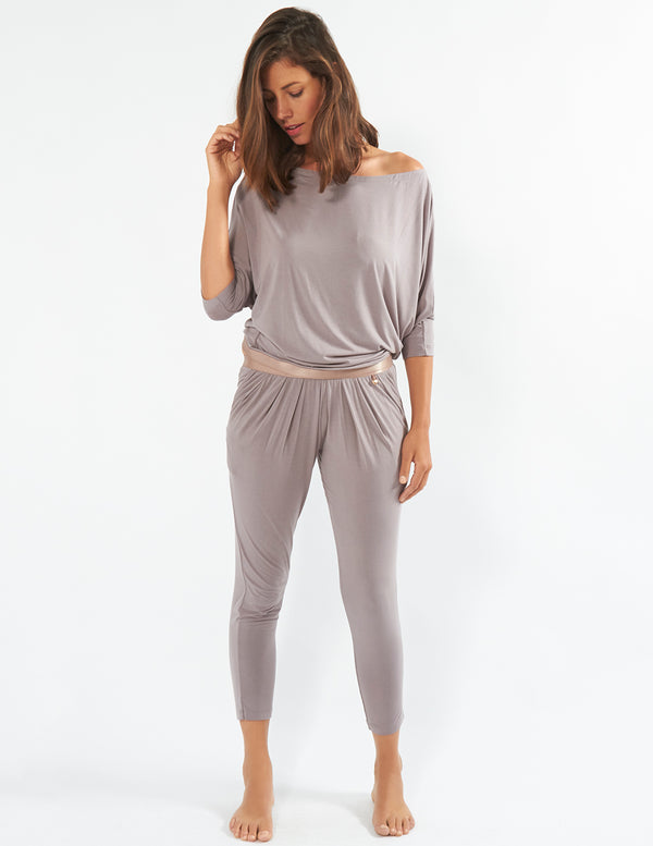 Mimi Holliday (L Only) Mocha Choca Latte Slouch Pants