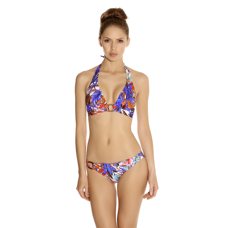 Huit (12D Only) Patchoulli Triangle Bikini Top