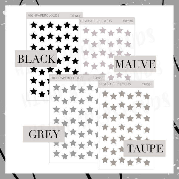 Mini Transparent Stars - Business Card Size