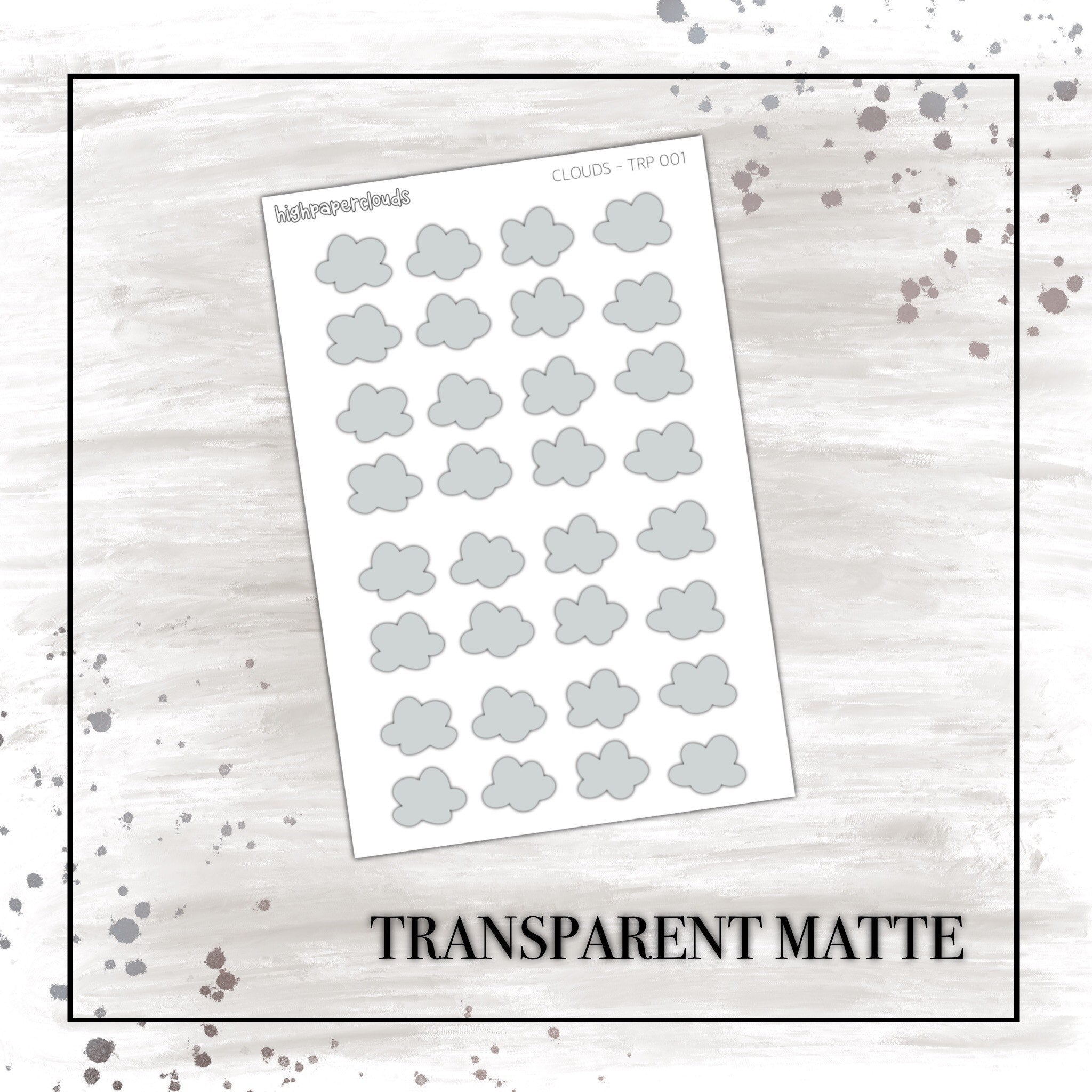 LARGE GREY CLOUDS - transparent matte