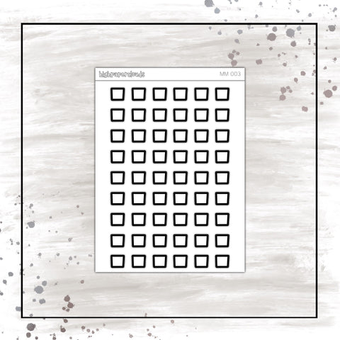 MINI SQUARE CHECKBOXES