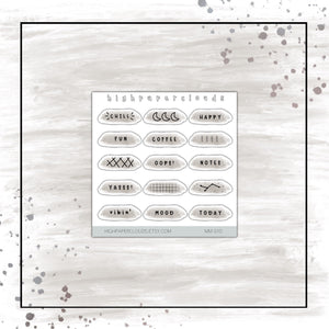 BRUSH STROKES DECO - mini sticker sheet