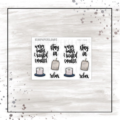 candles doodles & scripts planner stickers