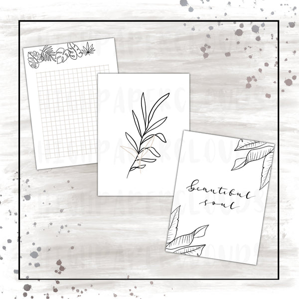 Summer Notecards / tropical escape & dusty rose inspired collection