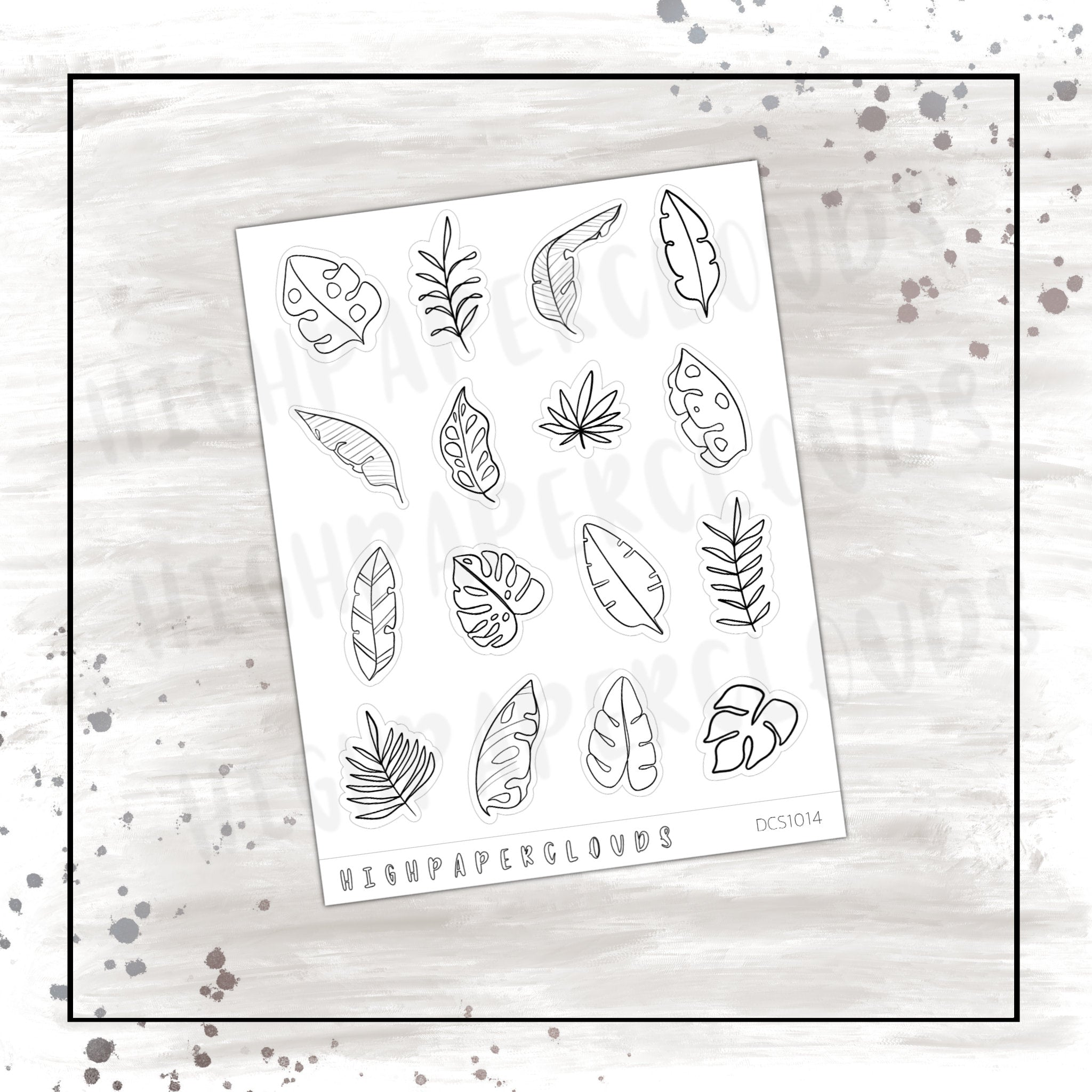 tropical leaves deco sheet