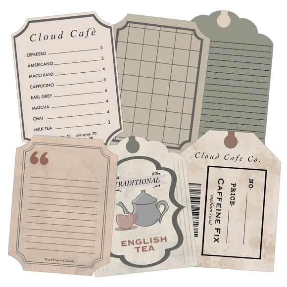 Cloud Cafe Journal Cards