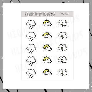 Mini Deco Clouds Sticker Sheet