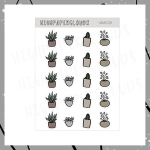 Mini Pots & Plants Deco Sticker Sheet