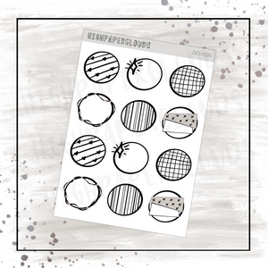 Round Decos Sticker Sheet