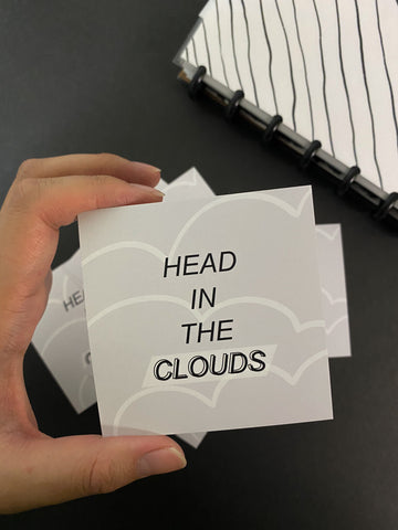 Head In The Clouds Journal/Planner Card