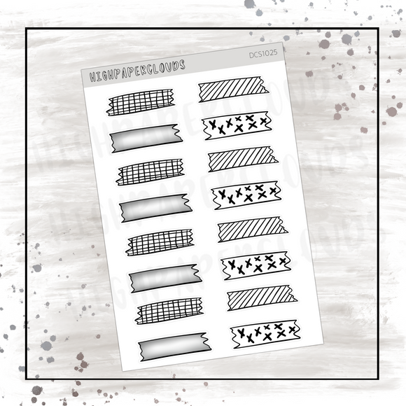 BW Washi Decos Sticker Sheet