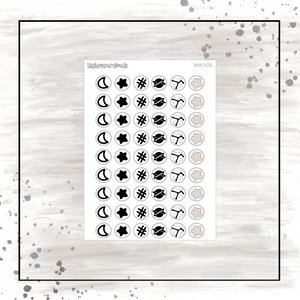 Galaxy Icons Mini Sticker Sheet
