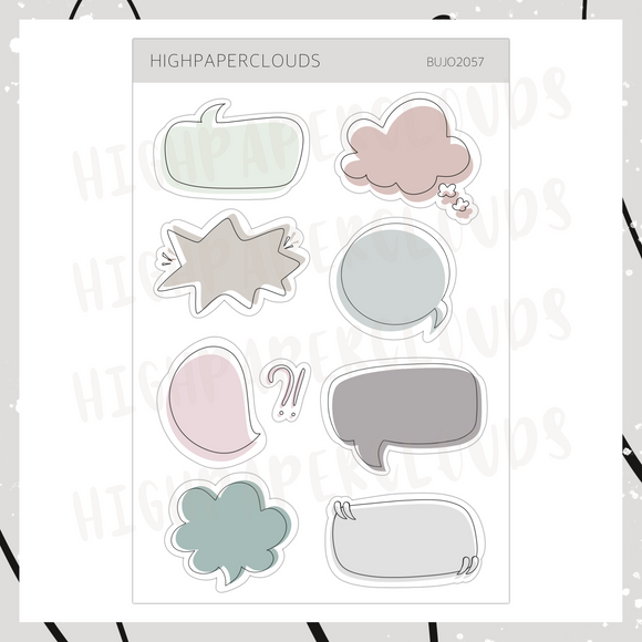 Carnival Palette - Thought Bubbles Sticker Sheet