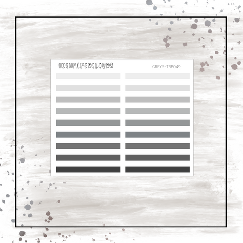 DELUXE Transparent Strips - GREYS Palette