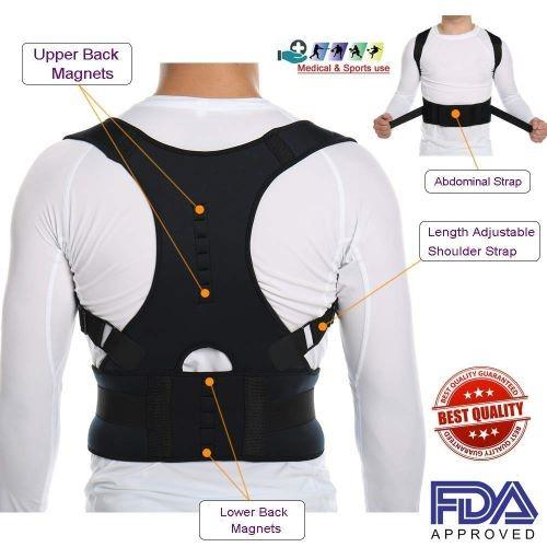 Person - MAGNETIC POSTURE CORRECTIVE THERAPY BACK BRACE FOR MEN & WOMEN
