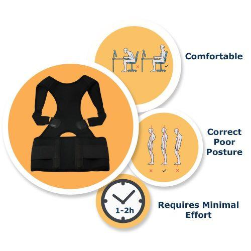 Label - MAGNETIC POSTURE CORRECTIVE THERAPY BACK BRACE FOR MEN & WOMEN