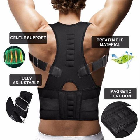 Brace - MAGNETIC POSTURE CORRECTIVE THERAPY BACK BRACE FOR MEN & WOMEN