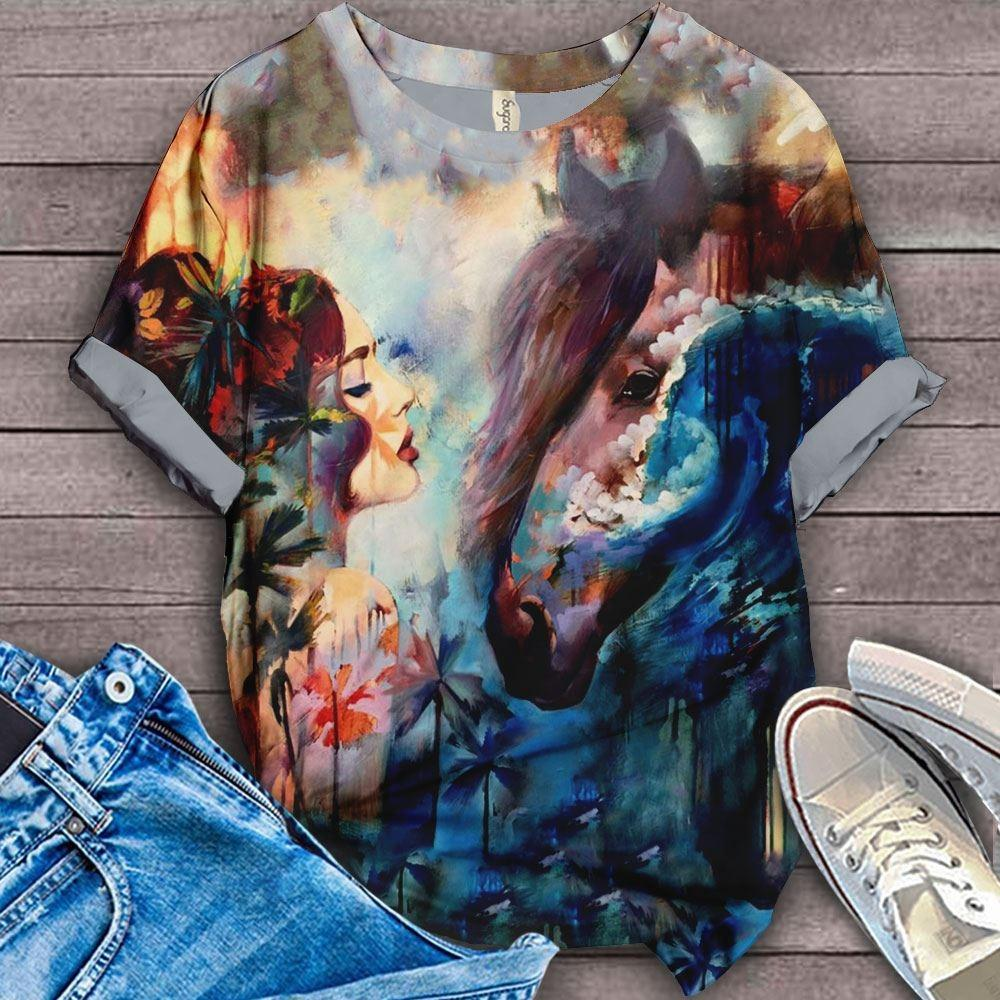 Horse Lovers Gorgeous Art T-Shirt 25