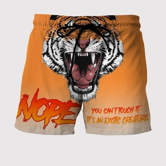 NOPE - YOU CAN'T TOUCH IT CUSTOM Beach Short - SWIM TRUNKS