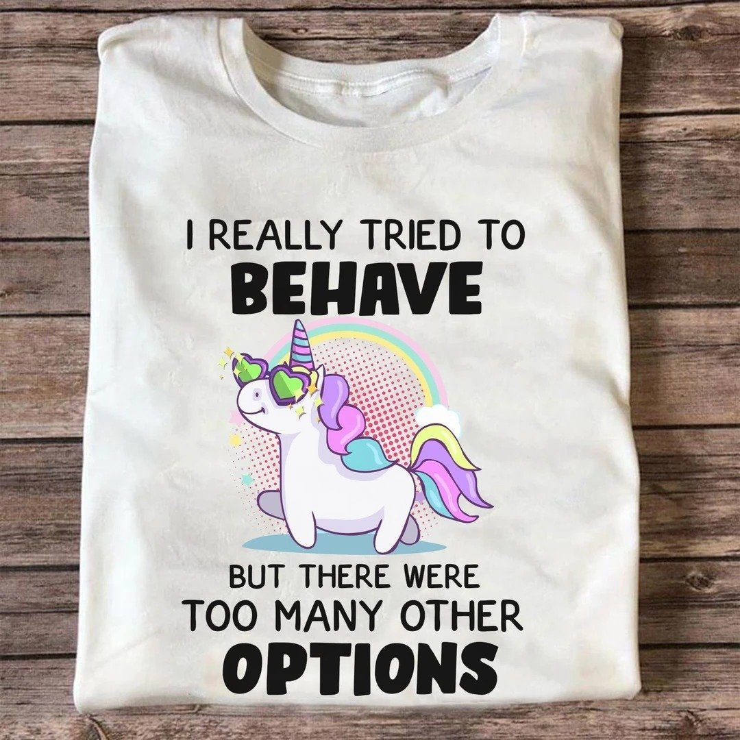 Unicorn - I really tried to behave