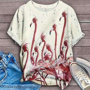 Flamingo Lovers Classic T-Shirt 8