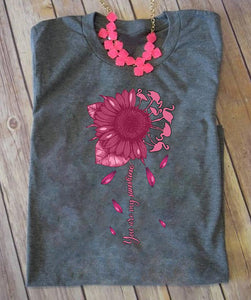 Sunflower Flamingos T-SHIRT