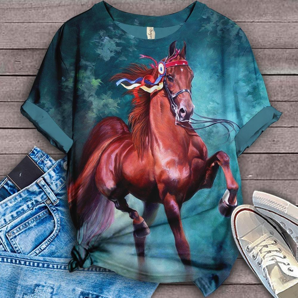 Horse Lovers Gorgeous Art T-Shirt H10