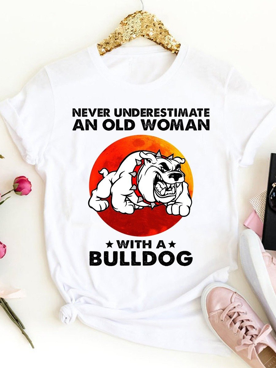 Never underestimate an old woman with a bulldog