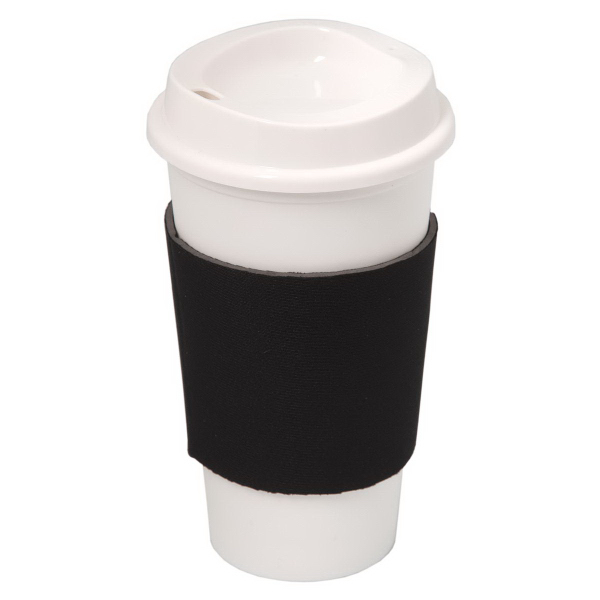 NYC Plastic Cup with Neoprene Sleeve