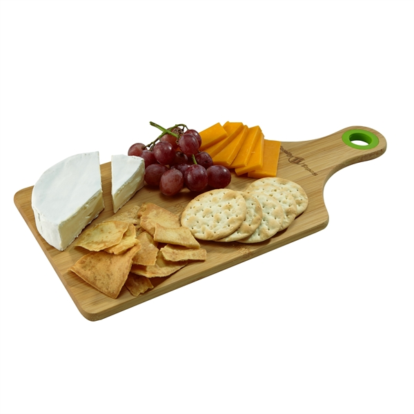 Bamboo Cheese Board w/ Silicone Ring