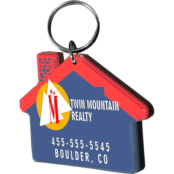 House Shaped Key Chains (4 Square Inches)