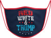 #108 - Face Cover - Red, White & Trump