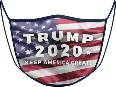 #114 - Face Cover - FLAG - Trump 2020