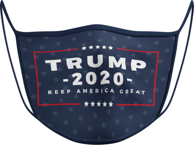#116 N - Face Cover - Trump 2020 Navy