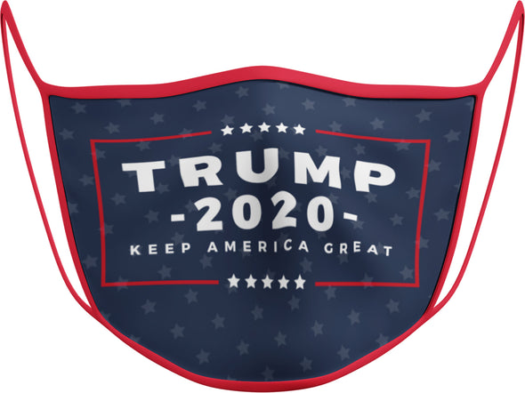#116 R - Face Cover - Trump 2020 Red