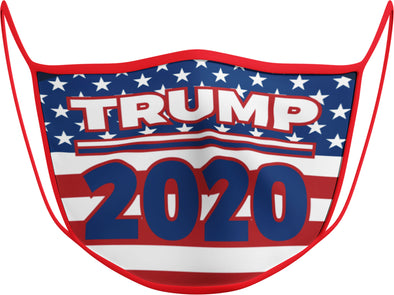 #118 R - Face Cover - Trump 2020 Flag