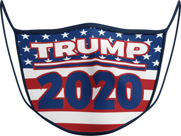 #118 N - Face Cover - Trump 2020 Flag