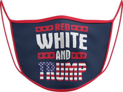 #120 - Face Cover - Red, White and Trump