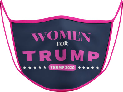 #124 - Face Cover - Women for Trump - Pink