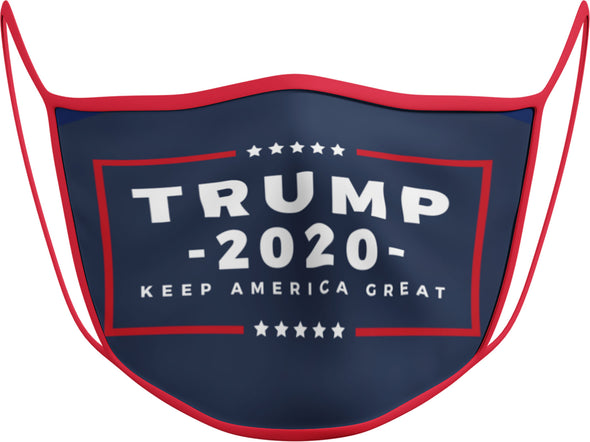 #127 - Face Cover - Trump 2020 Navy Blue