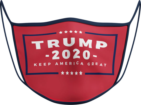 #128 - Face Cover - Trump 2020 Red