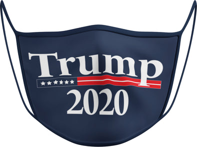 #132 N - Face Cover Trump 2020 - Navy