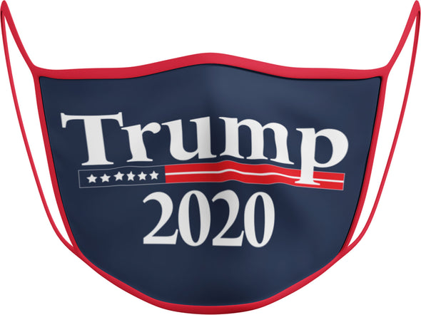 #132 R - Face Cover Trump 2020 - Red