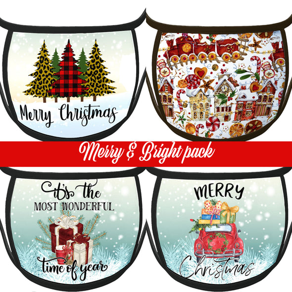 CHRISTMAS FACE mask celebration music dancing champagne piano musical music Music face mask Covering  notes musician floral presents holiday