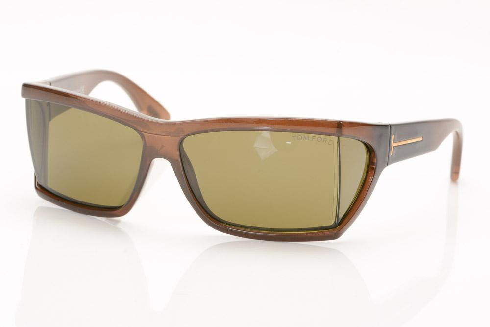 Tom Ford Sasha Rectangular Sunglasses ACCESSORIES Tom Ford 49-13-125 Brown