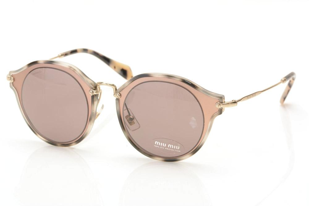 Miu Miu Round Sunglasses ACCESSORIES Miu Miu Pink