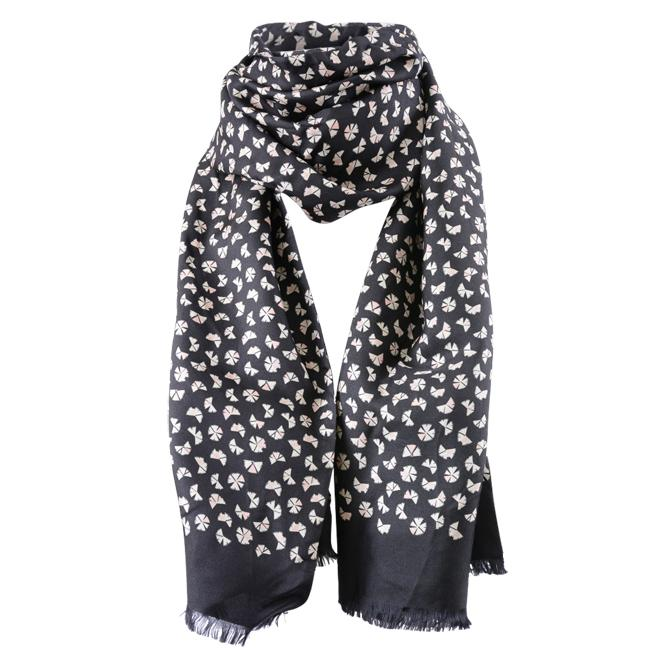 Marc Jacobs Pinwheel Print Scarf ACCESSORIES Marc Jacobs Black