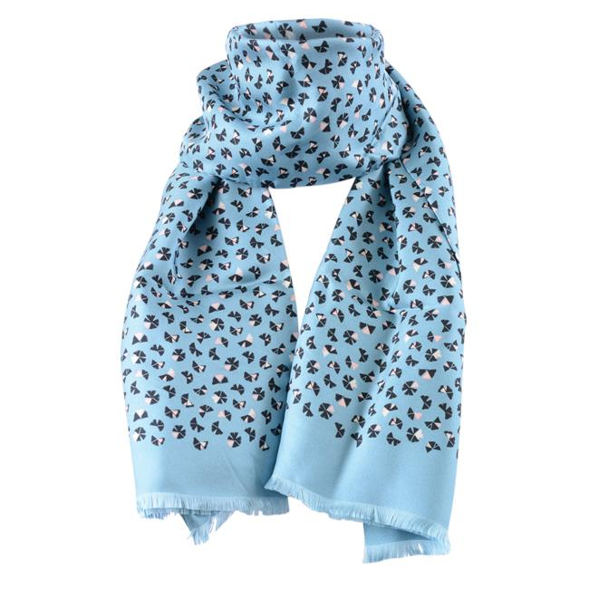 Marc Jacobs Pinwheel Print Scarf ACCESSORIES Marc Jacobs Blue
