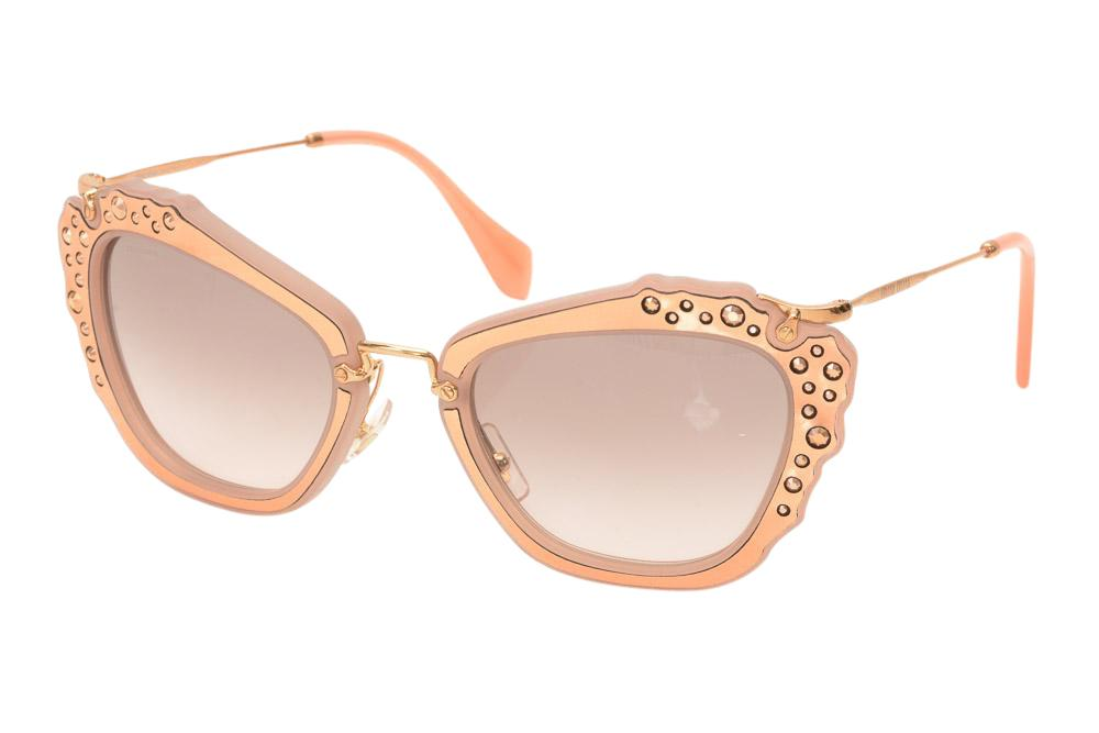 Miu Miu Studded Sunglasses ACCESSORIES Miu Miu Pink