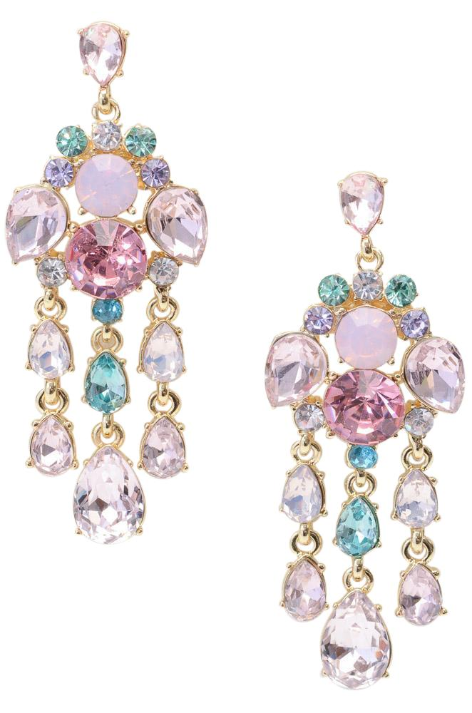 Carolee Crystal Chandelier Dangle Earrings JEWELRY Carolee Gold